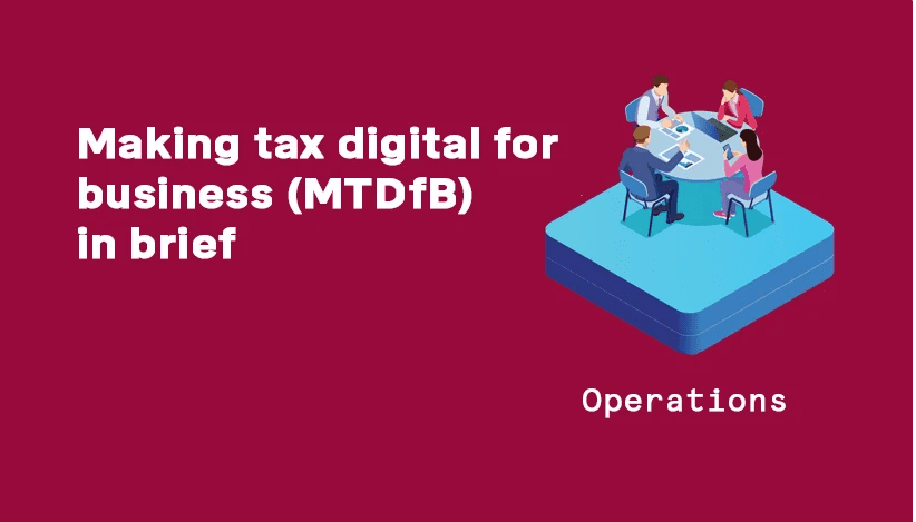 making tax digital for business graphic header