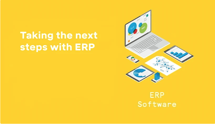 Taking the next steps with ERP header graphic